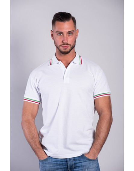 Polo Cotone 100% Tricolore MORE ELITE ITALY
